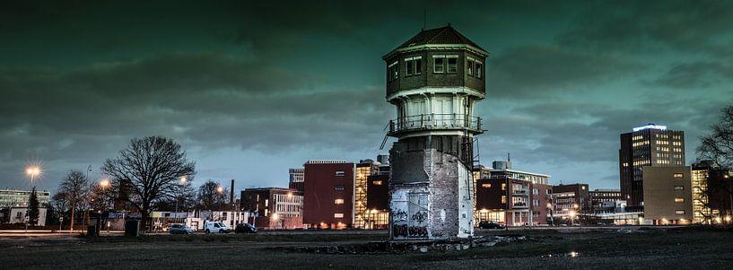 watertoren in panorama van Freddy Hoevers