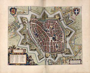 Zwolle, Stadtplan Joan Blaeu 1652