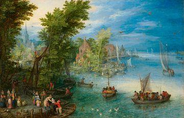 Flusslandschaft, Jan Brueghel der Ältere