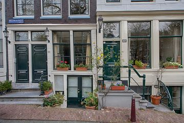 Entree grachtenpand Amsterdam van Peter Bartelings Photography