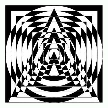 Abstrakte Dreiecke, Quadrate und Kreise von Maurice Dawson