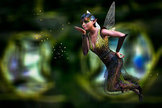 Magical Elf in Wood - Fairy in het bos