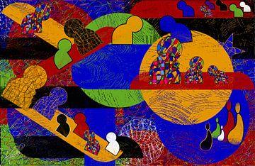 farbige geometrische Form von EL QOCH