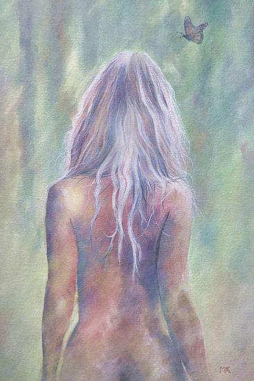 Bemalter nackter Rücken einer sexy Frau