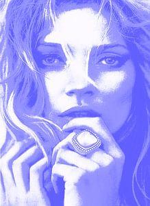 Kate MOSS Blau