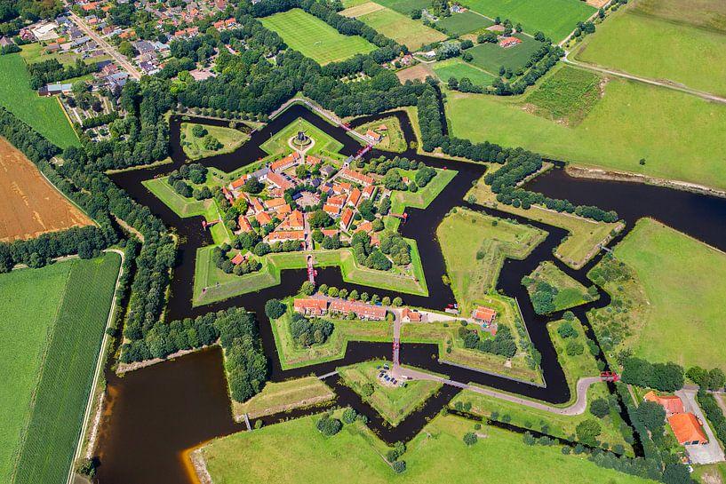Photo aérienne de la forteresse de Bourtange sur Frans Lemmens