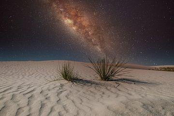 White Sands New Mexico met de Melkweg van Gert Hilbink
