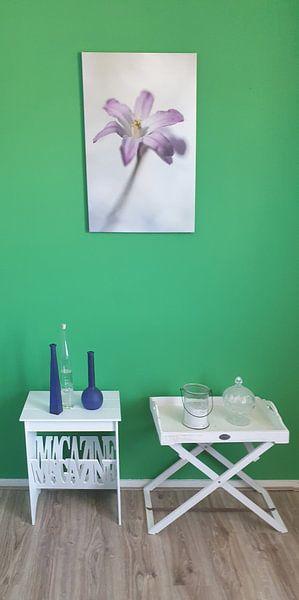 Photo de nos clients: Pastel des fleurs sur Angelique Koops, sur toile