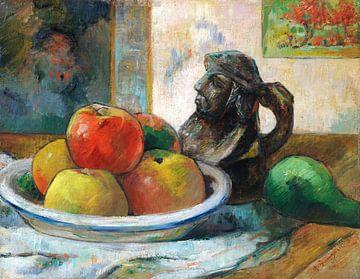 Paul Gauguin, Stilleben mit Äpfeln, Birnen und Keramiken,1889 von Atelier Liesjes