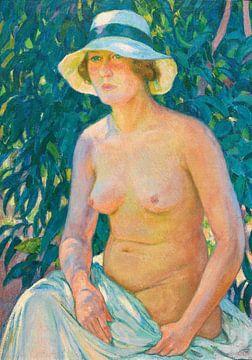 Weiblicher Akt mit Panama, theo van rysselberghe, 1924 von Atelier Liesjes