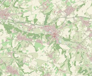 Kaart van Valkenburg aan de Geul van