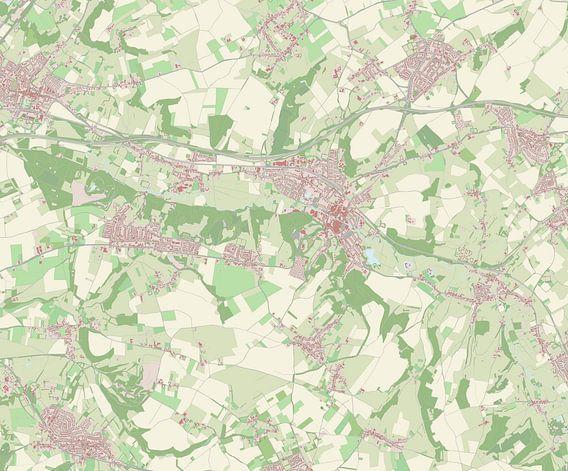 Kaart van Valkenburg aan de Geul van Rebel Ontwerp
