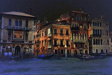 Palazzos op de CANALE GRANDE in Venetië van Lutz Roland Lehn