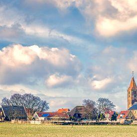 pittoresk dorpje Oosterland op Wieringen van eric van der eijk