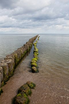 Ostsee - Buhnen am Strand von Kölpinsee (Usedom) von t.ART