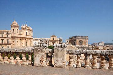 Kathedraal van San Nicolo, Benedictijner klooster SS Salvatore,Noto, UNESO werelderfgoed, Vale di No van Torsten Krüger