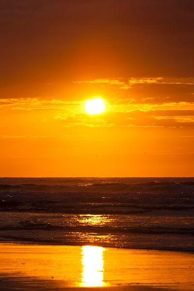 Zonsondergang Noordzee (1) van schylge foto