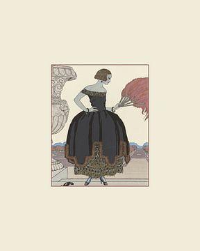 Dame élégante | Habillage | Imprimé de mode historique | Publicité historique | Art déco sur NOONY