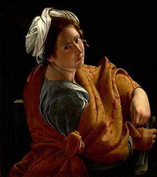 Porträt einer jungen Frau als Sibylle, Orazio Gentileschi