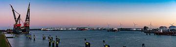 Panoramafoto van Sleipnir het grootste kraanschip van de wereld  In Rotterdam
