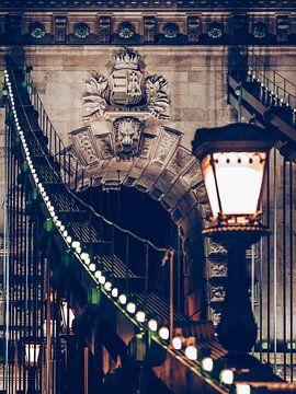 Boedapest - Kettingbrug bij nacht van Alexander Voss