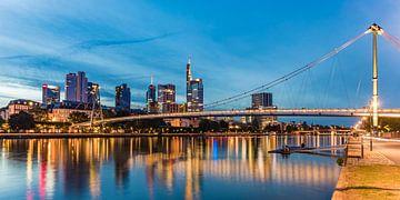 Skyline von Frankfurt am Main bei Nacht von Werner Dieterich
