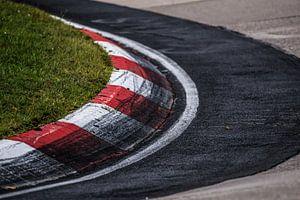 Prachtige bocht op een race circuit van
