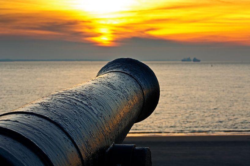 Kanon te Vlissingen 1 van Anton de Zeeuw