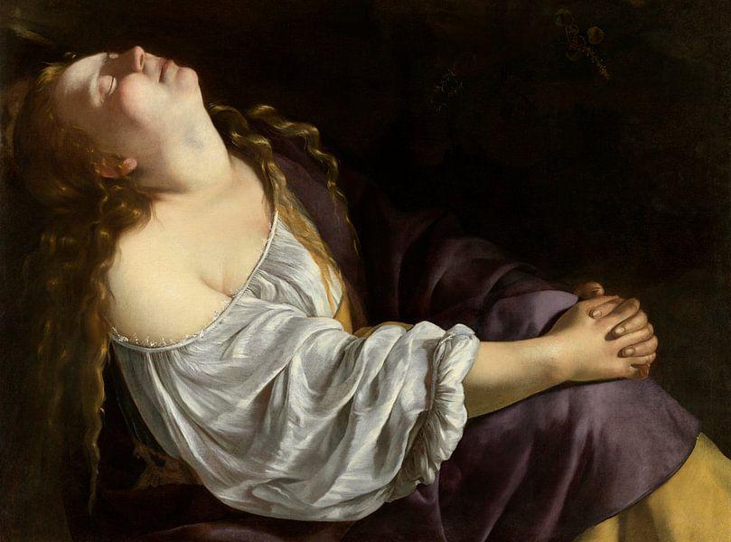Maria Magdalena in Ekstase, Artemisia Gentileschi von Meesterlijcke Meesters
