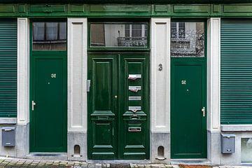 Grüne Türen von Stefaan Tanghe