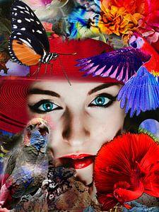 Flower-Power-Dame von Christine Vesters Fotografie