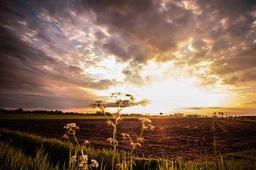 Markelo, Zonsonder, wolken. sur Frank Slaghuis