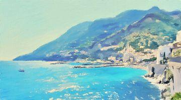 Italië - Zonnige Amalfikust - Amalfi - Schilderij