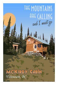 Kanada Vintage-Tourismus-Poster die Berge rufen von Joost Winkens