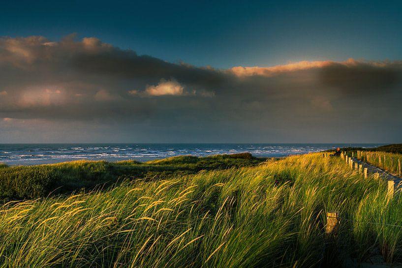 Abendstimmung an der Nordsee von Bernd Müller