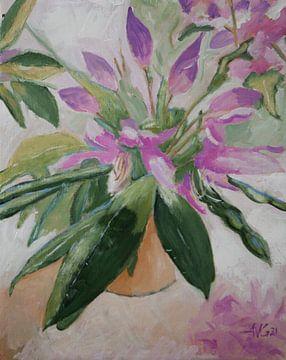 Rhododendron von Antonie van Gelder Beeldend kunstenaar
