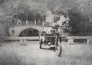 Roller in China schwarz-weiß von Anouschka Hendriks