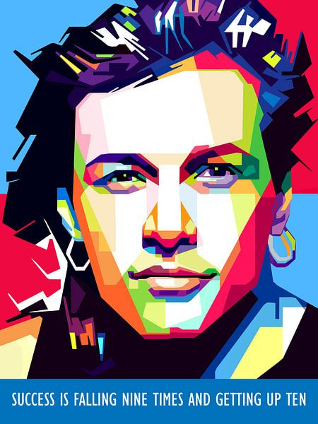 Pop Art Jon Bon Jovi von Doesburg Design
