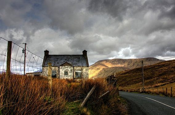 Vervallen huisje in Connemara Ierland