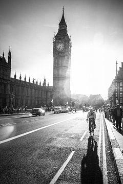 Big Ben London schwarz weiß von Thea.Photo