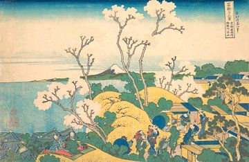 Fuji aus Gotenyama in Shinagawa auf der Tōkaidō, Katsushika Hokusai