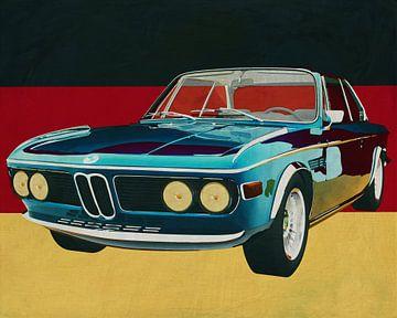 BMW 3.0 CSI 1971 een typisch Duitse auto van Jan Keteleer