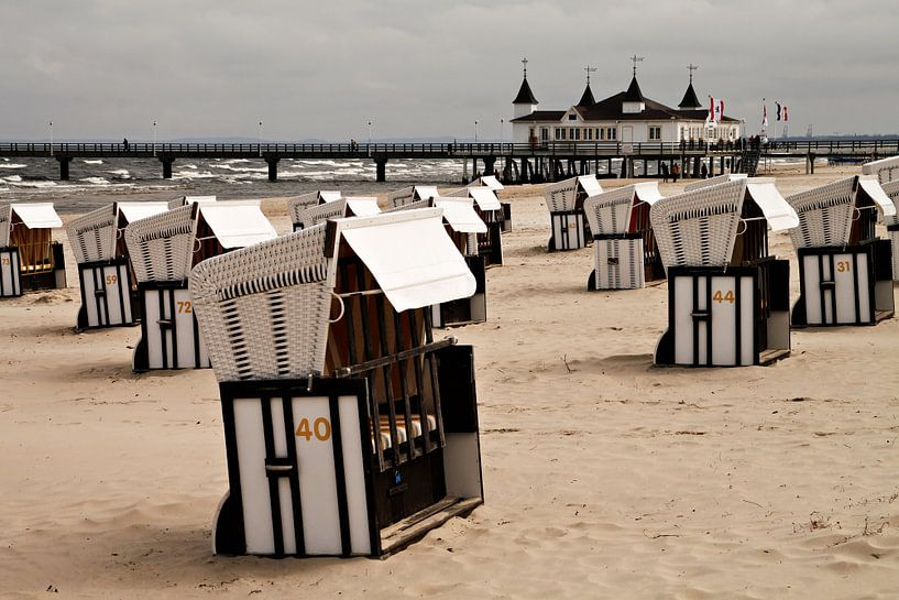 Baltic Sea coast in Ahlbeck van Rico Ködder