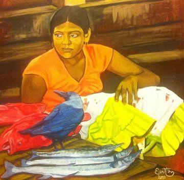 Sri Lanka vismarkt von Bert Jan Nieuwenhuize