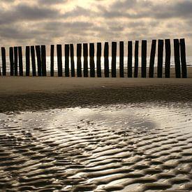 Strandpalen 2 van Romuald van Velde