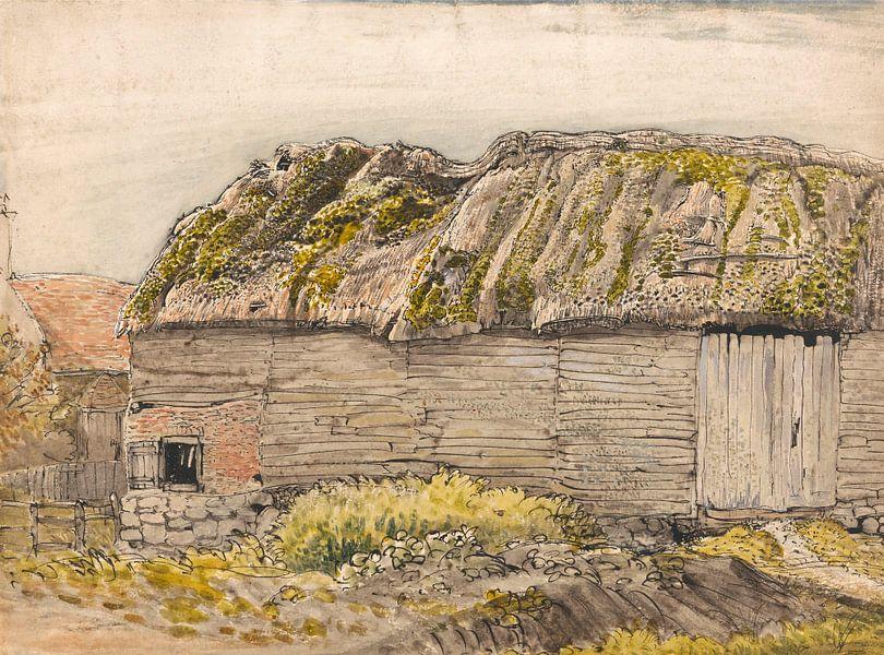 Samuel Palmer-Een schuur met een Mossy Daf, Shoreham van finemasterpiece
