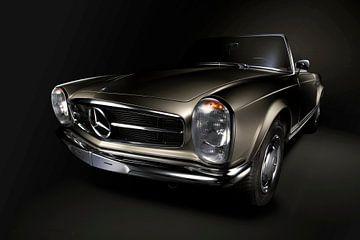 Mercedes-Benz 230SL Pagoda 1966 Goud.