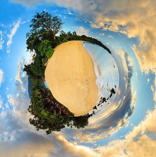Planeet tropisch strand Madagaskar van Dennis van de Water
