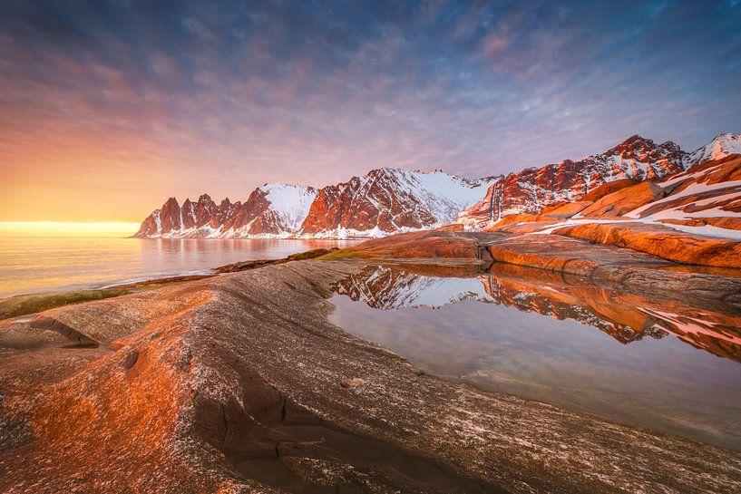 Felsküste Tungeneset Senja / Norwegen von FineArt Prints   Zwerger-Schoner  