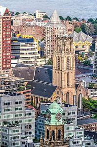 Rotterdam, collage van iconen van